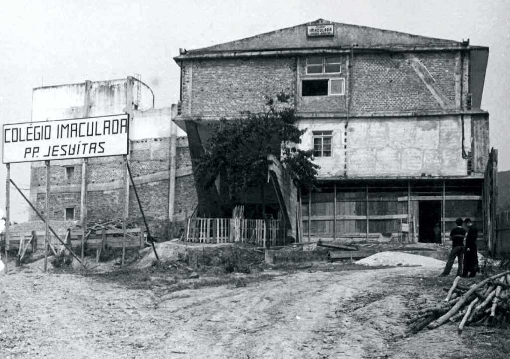 construcao da sede atual - historia do colegio