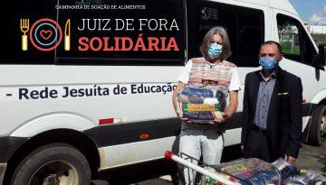 """Cuidado com o próximo: Colégio dos Jesuítas entrega cestas básicas para a campanha """"Juiz de Fora Solidária"""""""