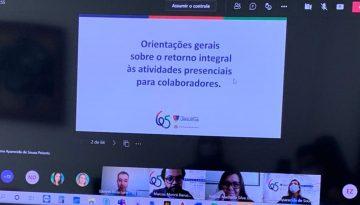 Protocolo de retorno às aulas presenciais é tema de encontro virtual entre colaboradores do Colégio dos Jesuítas