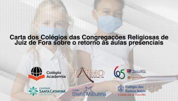Carta dos Colégios das Congregações Religiosas de  Juiz de Fora sobre o retorno às aulas presenciais